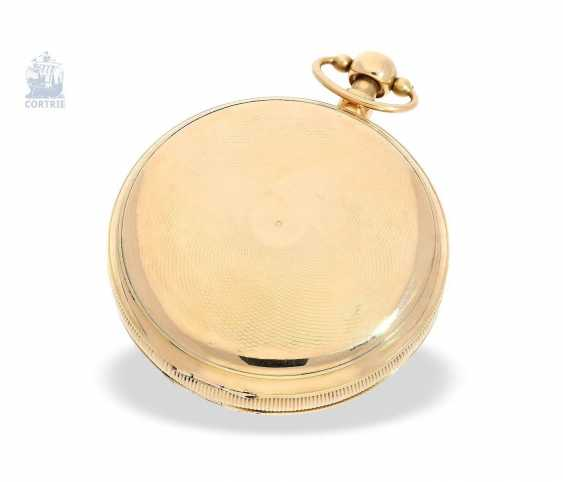 Pocket watch: a Museum and technically highly interesting Percussion pocket watch, the earliest known numbered pocket watch by Frederik Jürgensen, Copenhagen, No. 4033, CA. 1813 - photo 3