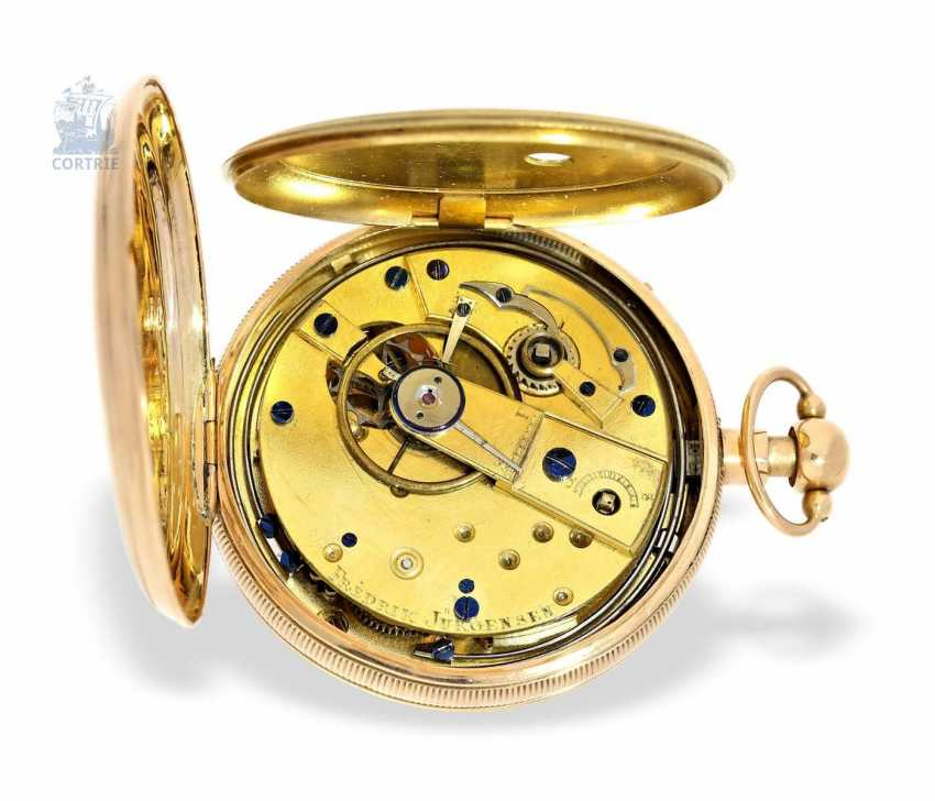 Pocket watch: a Museum and technically highly interesting Percussion pocket watch, the earliest known numbered pocket watch by Frederik Jürgensen, Copenhagen, No. 4033, CA. 1813 - photo 4