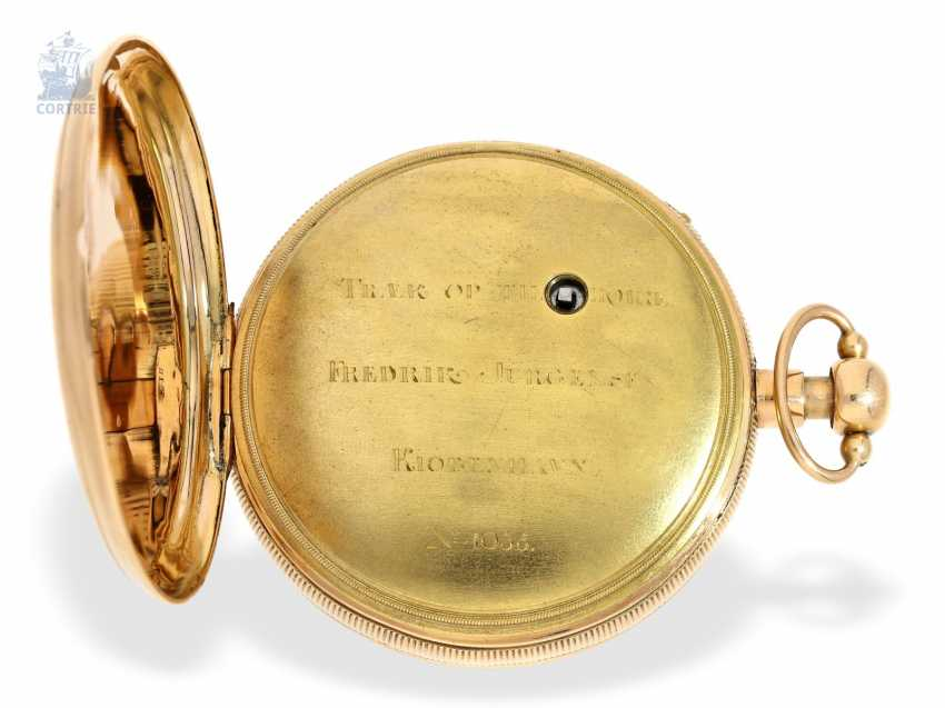 Pocket watch: a Museum and technically highly interesting Percussion pocket watch, the earliest known numbered pocket watch by Frederik Jürgensen, Copenhagen, No. 4033, CA. 1813 - photo 5