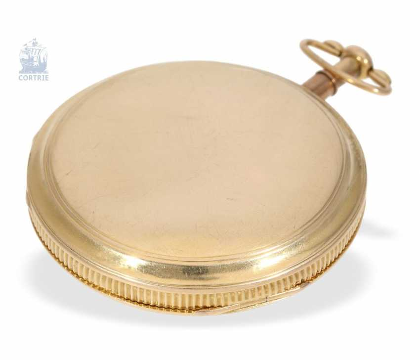 Pocket watch: rarity, Spindeluhr with minute repeater signed Breguet & Fils, No. 5608, Paris, around 1820 - photo 3