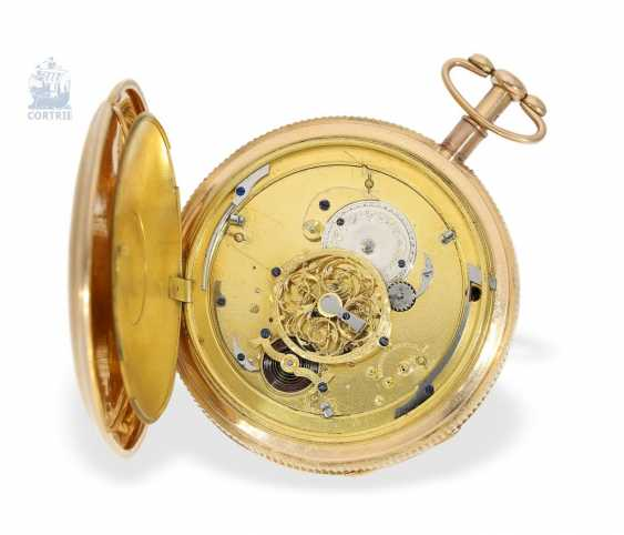 Pocket watch: rarity, Spindeluhr with minute repeater signed Breguet & Fils, No. 5608, Paris, around 1820 - photo 4