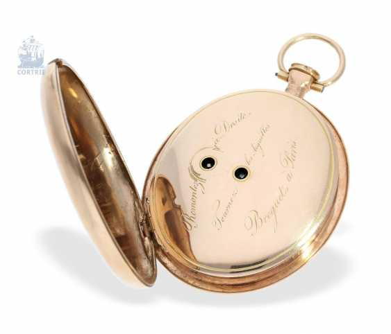 Pocket watch: a Museum, extremely rare oval pocket watch with Repetition, signed Breguet a Paris, 1800 - photo 2