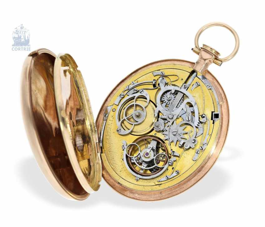 Pocket watch: a Museum, extremely rare oval pocket watch with Repetition, signed Breguet a Paris, 1800 - photo 4