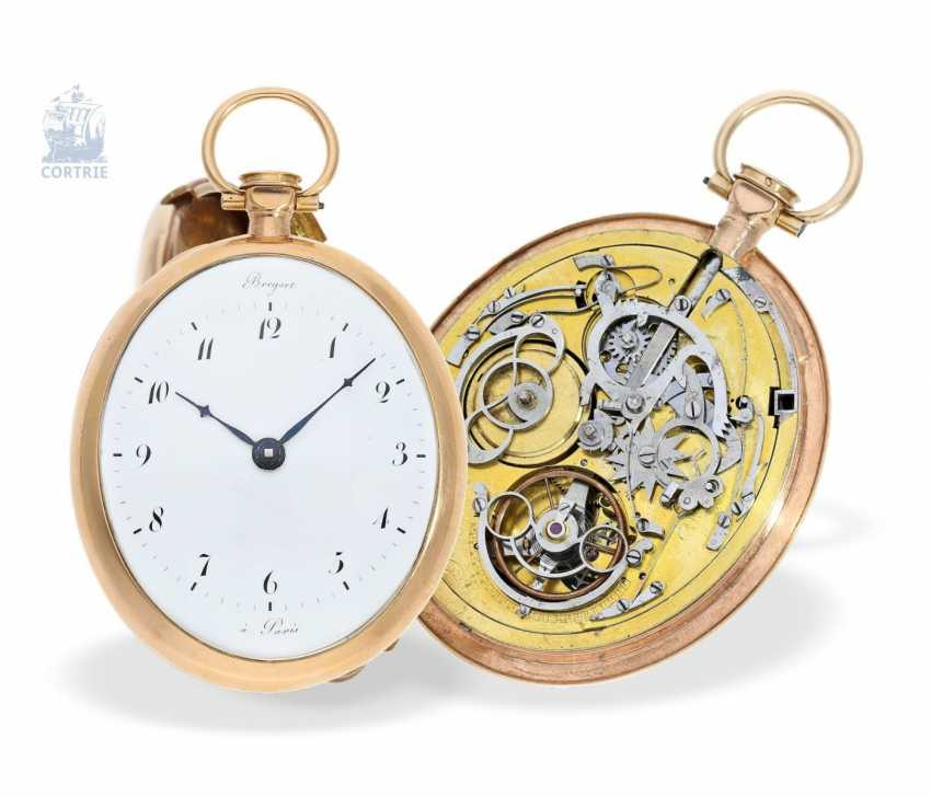 Pocket watch: a Museum, extremely rare oval pocket watch with Repetition, signed Breguet a Paris, 1800 - photo 5