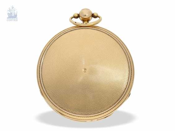 Pocket watch: important and probably unique highly complicated pocket watch with Grande & Petite Sonnerie, Repetition and music, watchmaker to the court of Louis Mallet, Paris, No. 1022/662, CA. 1820 - photo 5