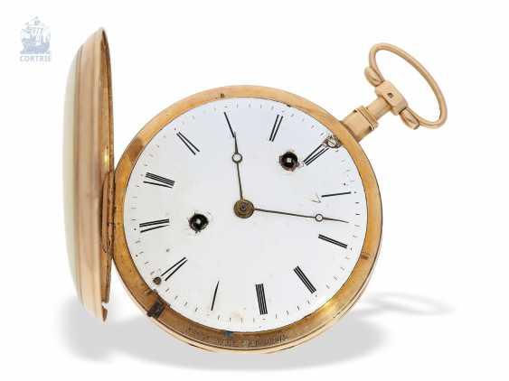 "Pocket watch: extremely rare Geneva pocket watch with figure automaton, ""The Dutch kitchen-The Dutch Kitchen"", int. Pierre Simon Gounouilhou Geneve, CA. 1815 - photo 4"