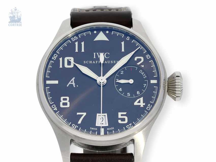 """Watch: IWC big pilot's watch with 8-day power reserve, """"Big Pilot's Antoine De Saint Exupery"""" Ref. IW500422 Limited, No. 0584/1149, with original box - photo 1"""