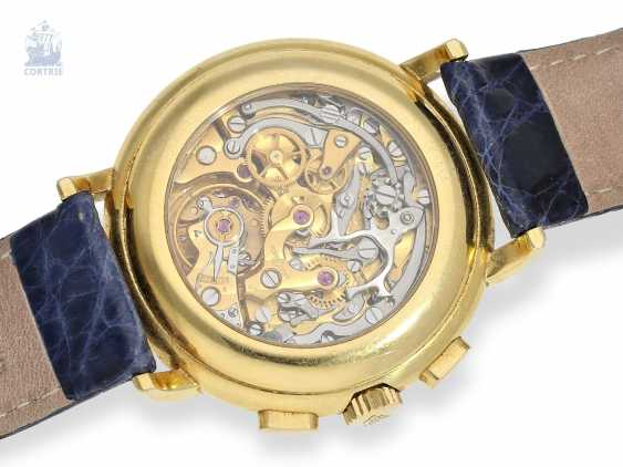 Watch: very heavy, luxurious Ulysse Nardin Gold Chronograph with calendar and moon phase, reference 531-22, 90s - photo 2