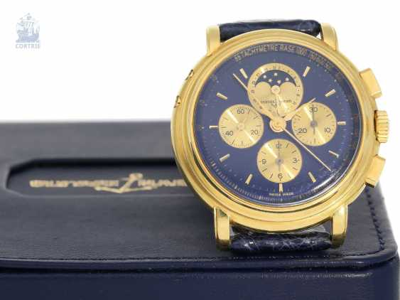 Watch: very heavy, luxurious Ulysse Nardin Gold Chronograph with calendar and moon phase, reference 531-22, 90s - photo 3