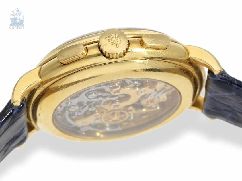 Watch: very heavy, luxurious Ulysse Nardin Gold Chronograph with calendar and moon phase, reference 531-22, 90s - photo 4