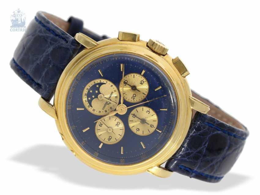 Watch: very heavy, luxurious Ulysse Nardin Gold Chronograph with calendar and moon phase, reference 531-22, 90s - photo 5