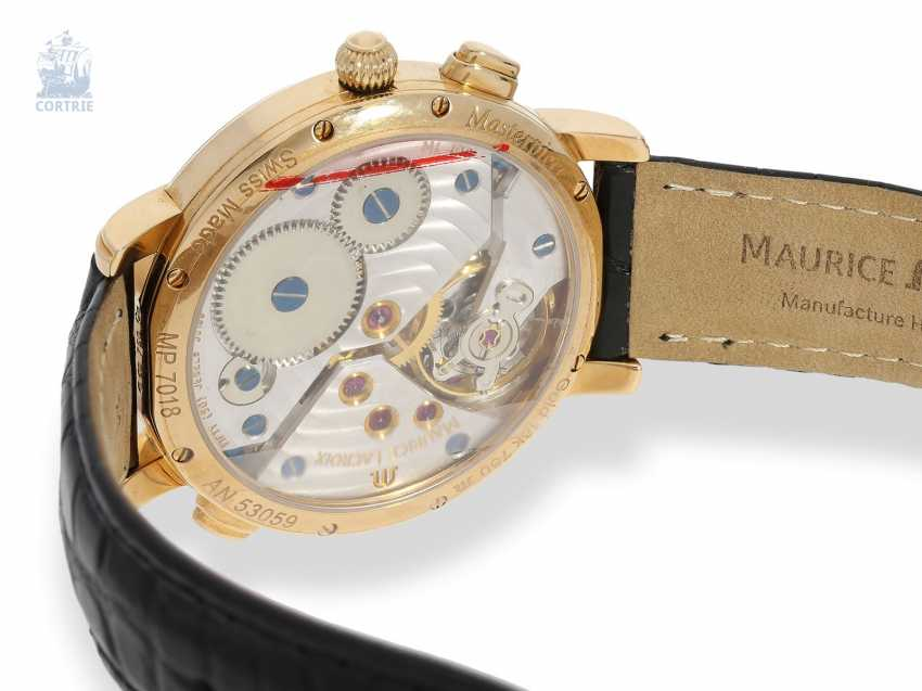 """Wrist watch: high quality men's watch, Maurice Lacroix """"MASTERPIECE DOUBLE RETROGRADE GMT"""" Ref. MP7018, 18K rose gold, mint with Box, papers and original label - photo 2"""