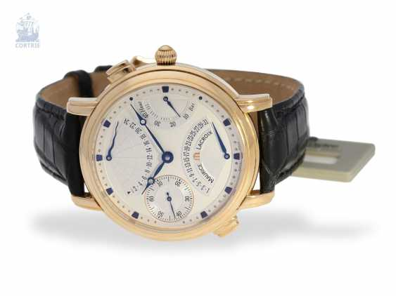 """Wrist watch: high quality men's watch, Maurice Lacroix """"MASTERPIECE DOUBLE RETROGRADE GMT"""" Ref. MP7018, 18K rose gold, mint with Box, papers and original label - photo 4"""