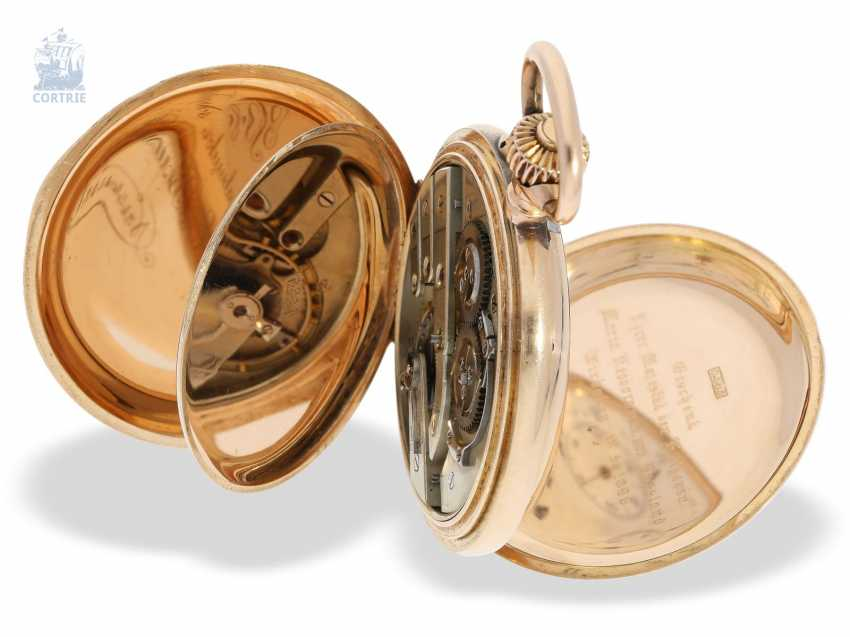 Pocket watch: historically interesting Gold/enamel-red gold-Savonnette, probably Präsentuhr of the Empress Maria Federowna on the occasion of the coronation of her son, Nicholas II in may 1896 - photo 2