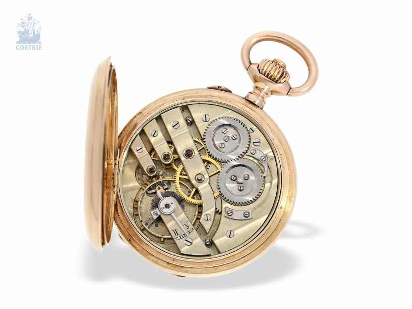 Pocket watch: historically interesting Gold/enamel-red gold-Savonnette, probably Präsentuhr of the Empress Maria Federowna on the occasion of the coronation of her son, Nicholas II in may 1896 - photo 3
