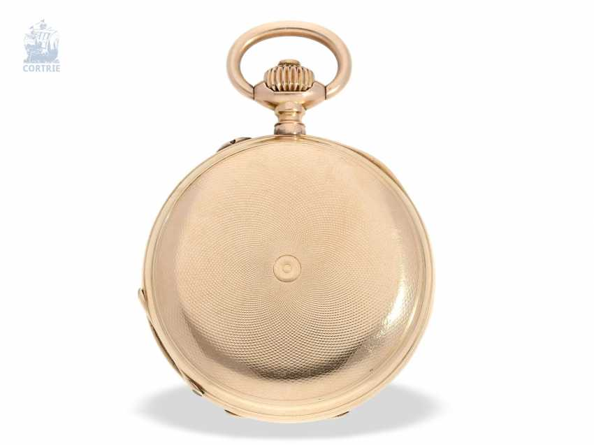 Pocket watch: historically interesting Gold/enamel-red gold-Savonnette, probably Präsentuhr of the Empress Maria Federowna on the occasion of the coronation of her son, Nicholas II in may 1896 - photo 5