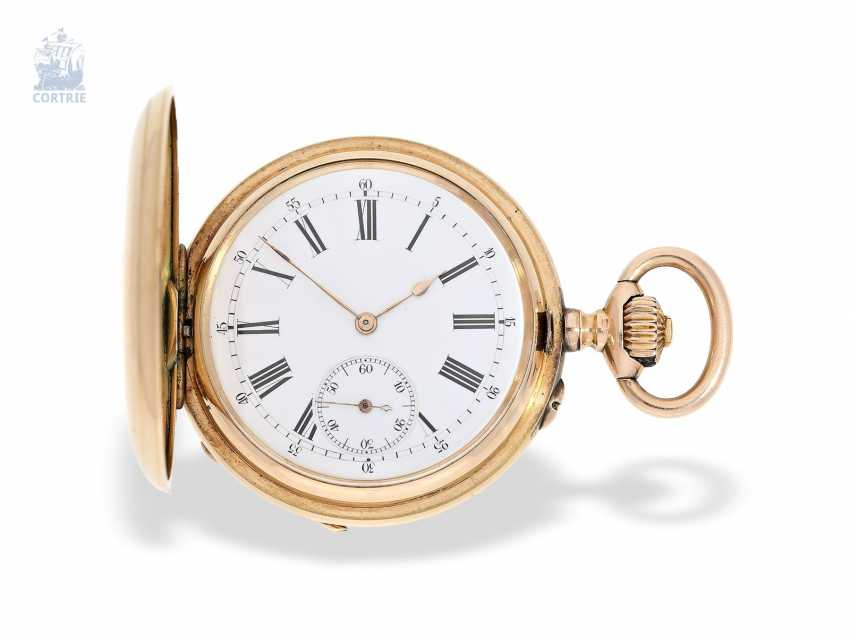 Pocket watch: historically interesting Gold/enamel-red gold-Savonnette, probably Präsentuhr of the Empress Maria Federowna on the occasion of the coronation of her son, Nicholas II in may 1896 - photo 6