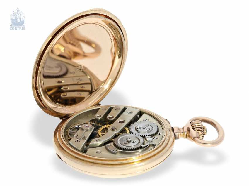 Pocket watch: historically interesting Gold/enamel-red gold-Savonnette, probably Präsentuhr of the Empress Maria Federowna on the occasion of the coronation of her son, Nicholas II in may 1896 - photo 9