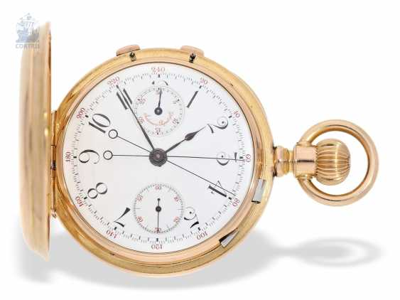 Pocket watch: extremely rare, Museum-like Audemars Piguet Anchor chronometer with split-seconds chronograph, the earliest known Audemars caliber of this type, No. 3331 of 1888 Piguet, with expert advice from Philip Poniz - photo 1