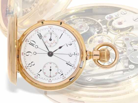 Pocket watch: extremely rare, Museum-like Audemars Piguet Anchor chronometer with split-seconds chronograph, the earliest known Audemars caliber of this type, No. 3331 of 1888 Piguet, with expert advice from Philip Poniz - photo 7