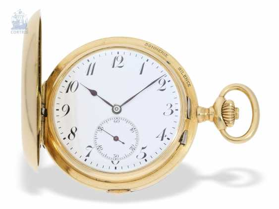 "Pocket watch: extremely rare and highly complicated César Racine gold savonnette ""Repetition a Minutes Grande Sonnerie & Carillon"", Switzerland, around 1910 - photo 1"
