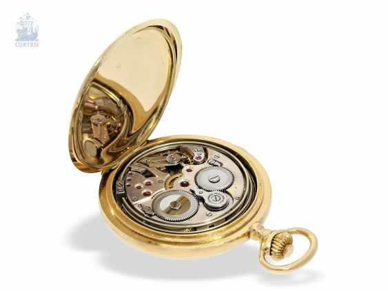 "Pocket watch: extremely rare and highly complicated César Racine gold savonnette ""Repetition a Minutes Grande Sonnerie & Carillon"", Switzerland, around 1910 - photo 2"