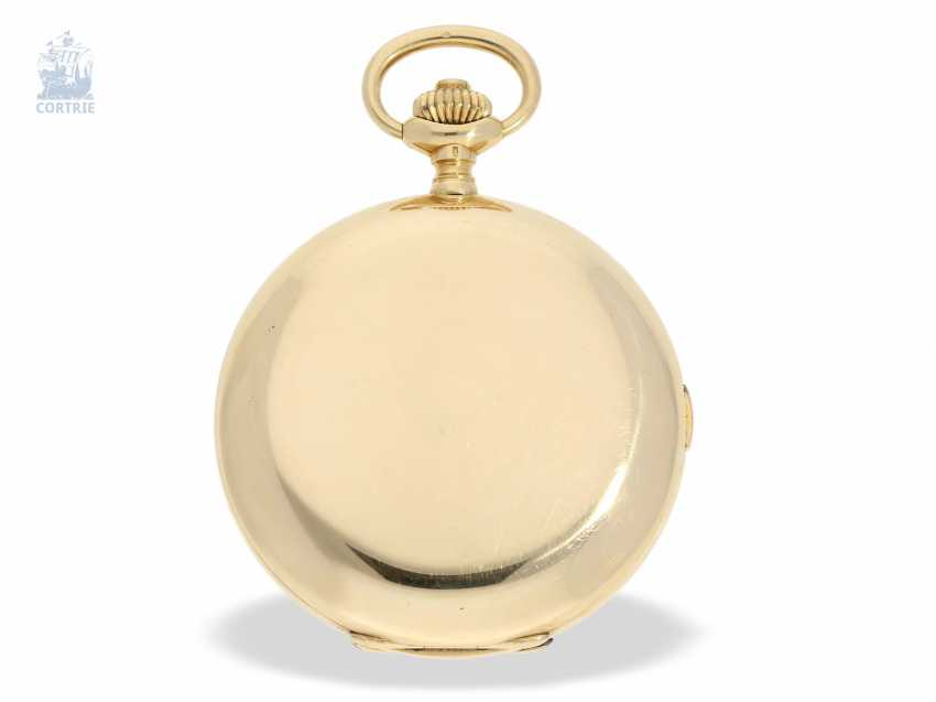 """Pocket watch: extremely rare and highly complicated César Racine gold savonnette """"Repetition a Minutes Grande Sonnerie & Carillon"""", Switzerland, around 1910 - photo 3"""