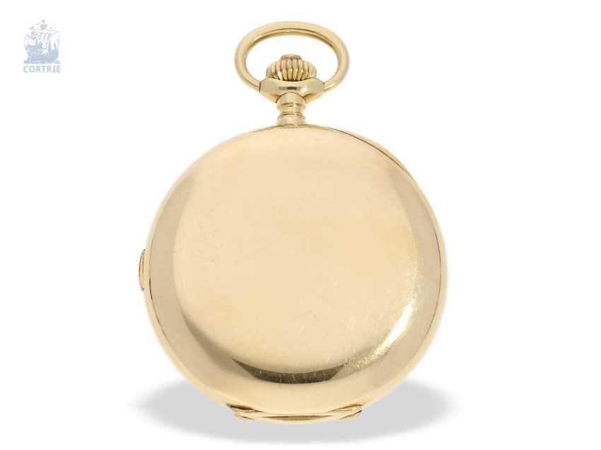 "Pocket watch: extremely rare and highly complicated César Racine gold savonnette ""Repetition a Minutes Grande Sonnerie & Carillon"", Switzerland, around 1910 - photo 5"
