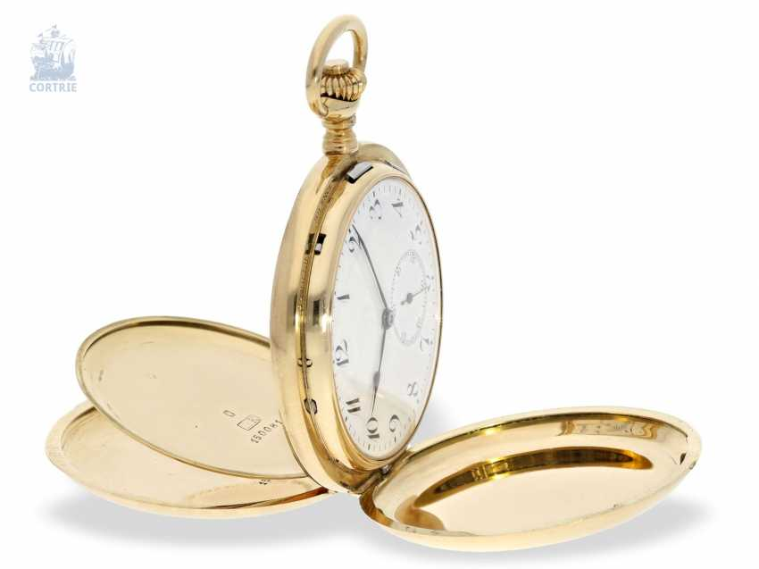 """Pocket watch: extremely rare and highly complicated César Racine gold savonnette """"Repetition a Minutes Grande Sonnerie & Carillon"""", Switzerland, around 1910 - photo 6"""