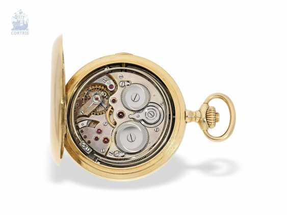 "Pocket watch: extremely rare and highly complicated César Racine gold savonnette ""Repetition a Minutes Grande Sonnerie & Carillon"", Switzerland, around 1910 - photo 8"