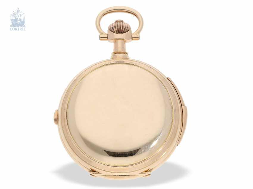 """Taschenuhr: bedeutende Le Coultre Goldsavonnette mit Le Coultre Zertifikat, """"Grande Complication """" 1st Quality"""" mit 8 Komplikationen, verm. Originalbox, ac 1895 - photo 6"""