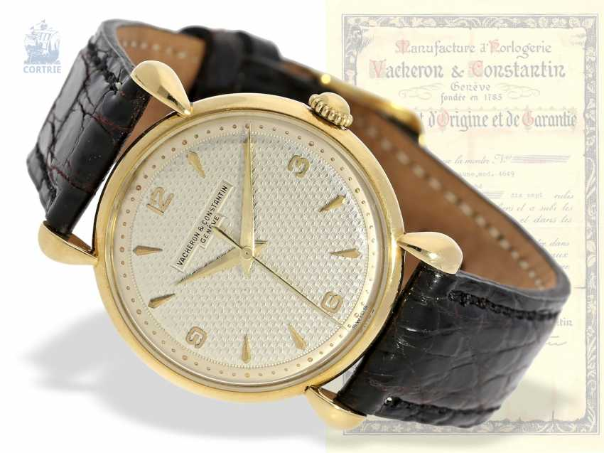 Watch: ultra-fine men's watch with original box and original certificate, Vacheron & Constantin Ref.4649, Geneva, 1948 - photo 1