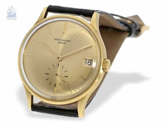 """Watch: rare automatic, Patek Philippe mens watch Ref.3514 with original special dial """"3445 Yellow"""", Patek Philippe Box and trunk book excerpt, Geneva, 1965 - photo 3"""