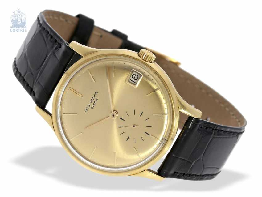 """Watch: rare automatic, Patek Philippe mens watch Ref.3514 with original special dial """"3445 Yellow"""", Patek Philippe Box and trunk book excerpt, Geneva, 1965 - photo 9"""