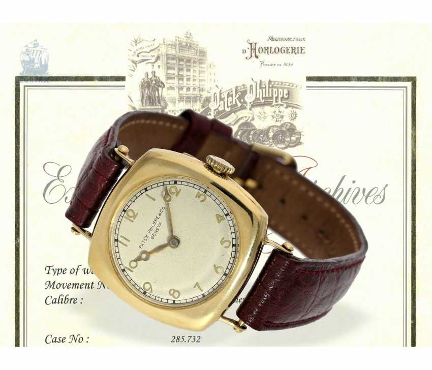 """Watch: Patek Philippe rarity, one of the earliest Patek Philippe watches """"Cushion-Shape"""" 18K Gold, Geneva, in 1908, with the master excerpt from the book - photo 1"""