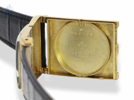 """Watch: extremely rare """"oversize"""" Patek Philippe men's watch with a very rare form of the housing """"Rectangular Tortoise-Shape"""" No. 821747, Geneva, 1929, with the master excerpt from the book - photo 4"""