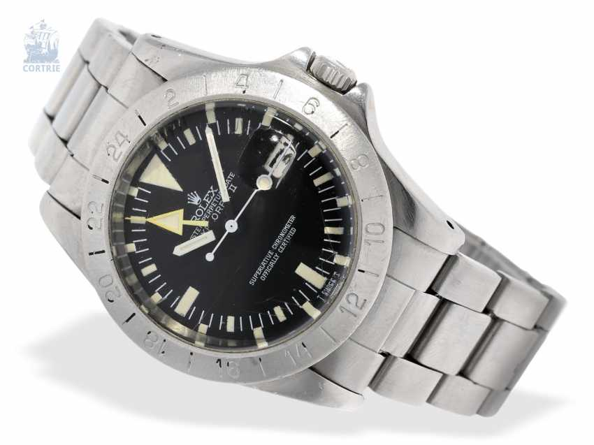 """Watch: Rolex Rare Explorer Ref. 1655 """"Steve McQueen"""" in the non-mounted state, worked from first owner, with Geneva original papers, 1978, and Box - photo 1"""