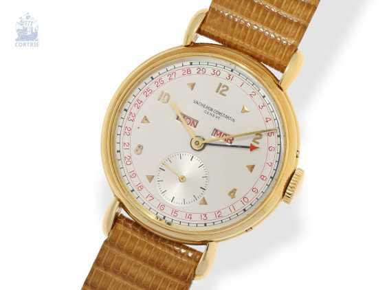 "Watch: large, ultra-fine Vacheron & Constantin men's watch with full calendar ""RED TRIPLE DATE"", Ref. 4241, CA. 1947 - photo 1"