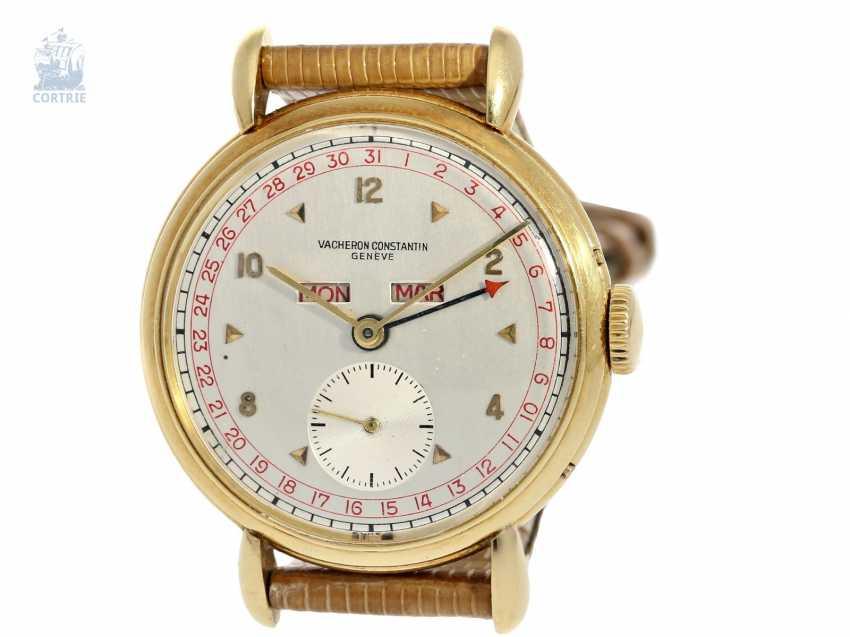 "Watch: large, ultra-fine Vacheron & Constantin men's watch with full calendar ""RED TRIPLE DATE"", Ref. 4241, CA. 1947 - photo 5"