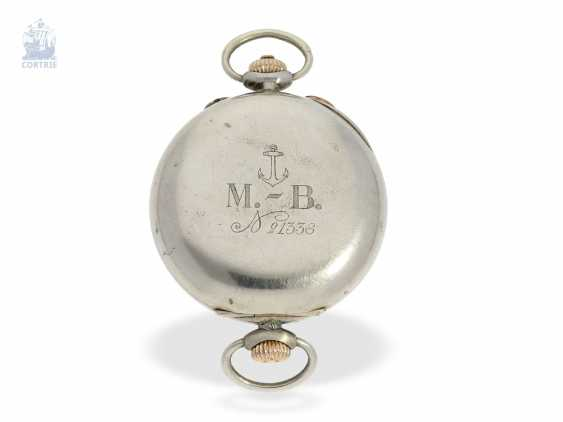 Watch: rare, very early, Marine-bracelet-Chronograph pointer, Henry Moser for the Russian Navy, C. 1910 - photo 5