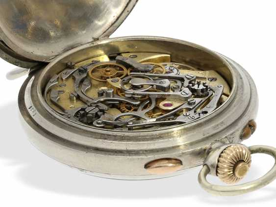 Watch: rare, very early, Marine-bracelet-Chronograph pointer, Henry Moser for the Russian Navy, C. 1910 - photo 6