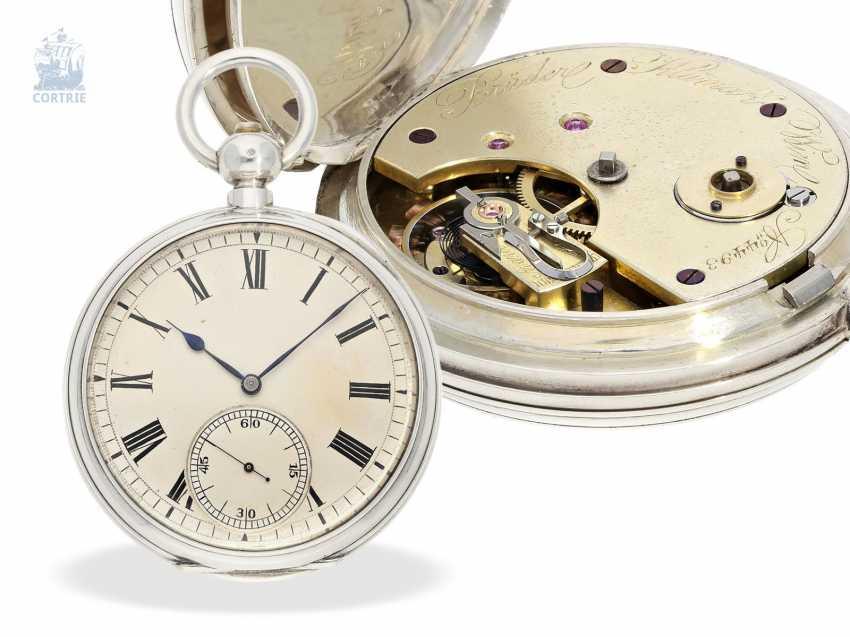Pocket watch: rarity, K. U. K seconds Navy semi-Observation chronometer, brothers Klumak Vienna No. 4493, CA. 1875 - photo 1