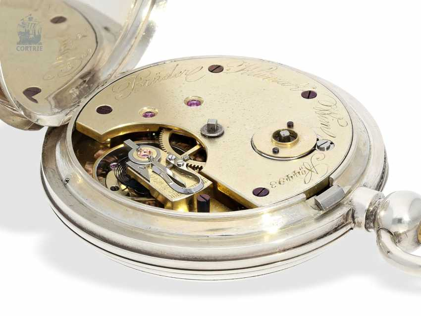 Pocket watch: rarity, K. U. K seconds Navy semi-Observation chronometer, brothers Klumak Vienna No. 4493, CA. 1875 - photo 6