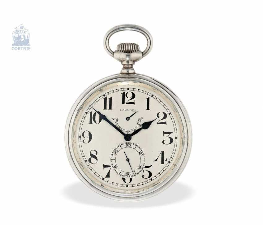 Pocket watch/clock: rare Longines Observation chronometers for the U.S. Navy, equipped with the high-grade precision-calibre 21.29, CA. 1920 - photo 1