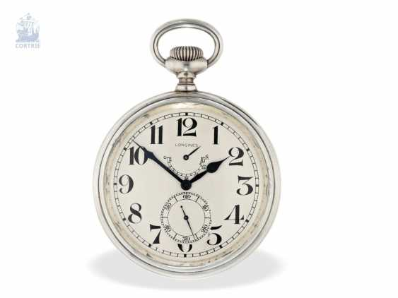 Pocket watch/clock: rare Longines Observation chronometers for the U.S. Navy, equipped with the high-grade precision-calibre 21.29, CA. 1920 - photo 5