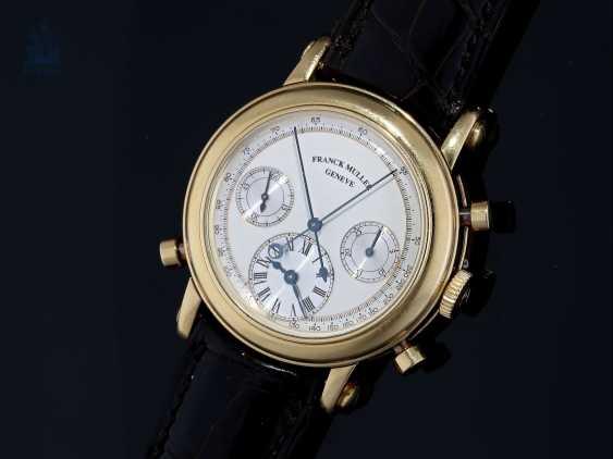 "Armbanduhr: sehr seltener, limitierter Chronograph Rattrapante ""Quality Chronometrique"" Franck Muller, Geneve, No. 03, Ref. 7000R, verkauft Dezember 1992, mit Box und Papieren - photo 1"