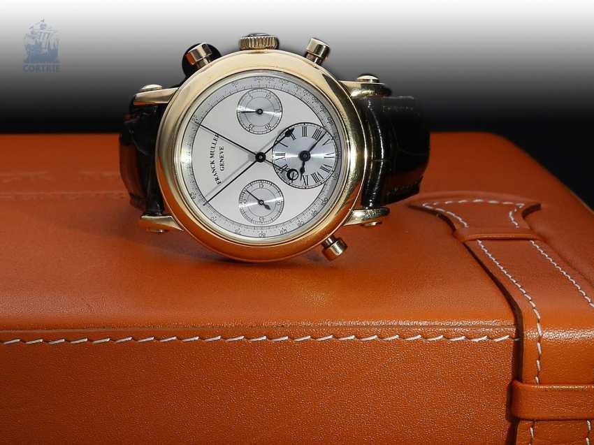"Armbanduhr: sehr seltener, limitierter Chronograph Rattrapante ""Quality Chronometrique"" Franck Muller, Geneve, No. 03, Ref. 7000R, verkauft Dezember 1992, mit Box und Papieren - photo 3"