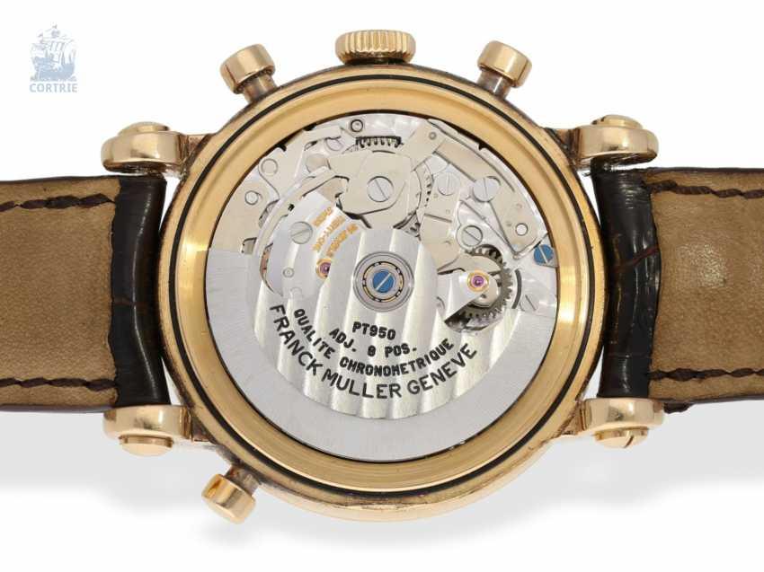 "Armbanduhr: sehr seltener, limitierter Chronograph Rattrapante ""Quality Chronometrique"" Franck Muller, Geneve, No. 03, Ref. 7000R, verkauft Dezember 1992, mit Box und Papieren - photo 4"