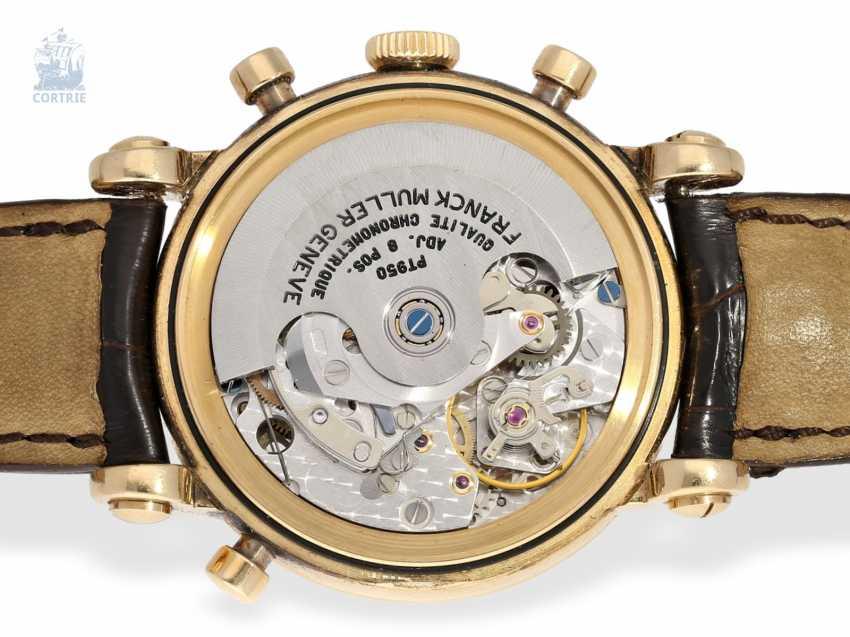 "Armbanduhr: sehr seltener, limitierter Chronograph Rattrapante ""Quality Chronometrique"" Franck Muller, Geneve, No. 03, Ref. 7000R, verkauft Dezember 1992, mit Box und Papieren - photo 5"