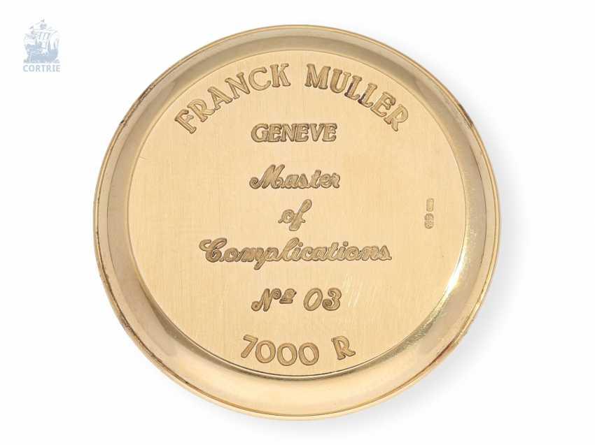 "Armbanduhr: sehr seltener, limitierter Chronograph Rattrapante ""Quality Chronometrique"" Franck Muller, Geneve, No. 03, Ref. 7000R, verkauft Dezember 1992, mit Box und Papieren - photo 6"